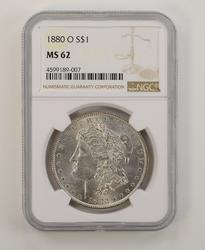 MS62 1880-O Morgan Silver Dollar - NGC Graded