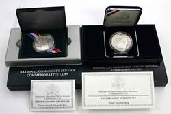 2 Scarcer Modern Commem Silver Dollars  Unc & Proof.
