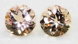 Natural Morganite 6mm Pair