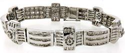 Gents Heavy 69.7 grams Diamond Bracelet, 17 CTW