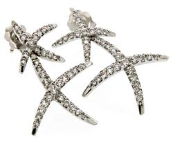 Diamond Double X Earrings