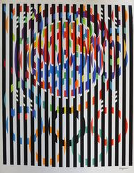 Yaccov Agam Message of Peace Serigraph