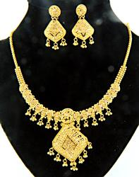 21K Necklace & Earring Set