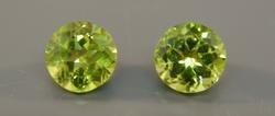 Pair of two Natural Peridot Loose Gemstones