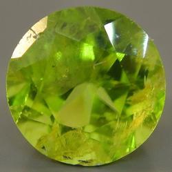 Round Cut Peridot Loose Gemstone