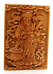 Carved Wooden Detailed Pendant