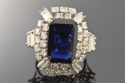 Extremely Rare over 12 Ct Sapphire and diamond ring