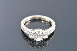 14K Gold 1.3+ Carat Diamond Engagement Ring