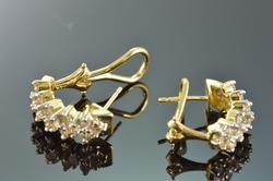 Elegant 1.28 Ctw Diamond French Clip Earrings