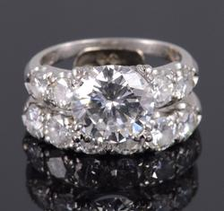 Platinum GIA 5+ Carat Diamond Engagement Ring