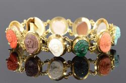 Rare 18kt Gold Cameo Bracelet
