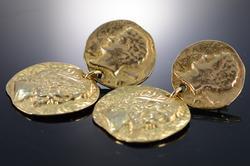 Unique Design 14kt Gold Greek Dangle Earrings
