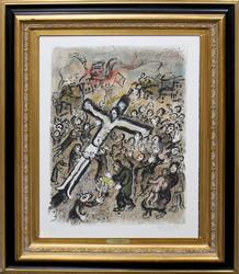 VERY LARGE HAND SIGNED CHAGALL ORIGINAL LITHOGRAPH