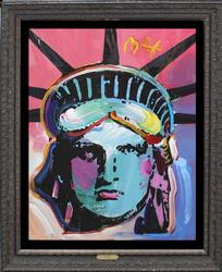 HUGE ORIGINAL ACRYLIC ON PAPER BY PETER MAX