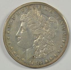 The Rare 1895-S Morgan Silver Dollar. XF Details