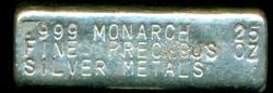 Classic Large Monarch Vintage 25 troy oz .999 Silver Bar