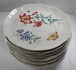 12 Lenox Butterfly Meadow Dinner Plates