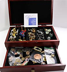 Lot of Cufflinks and Tie Bars/Tacks in Box
