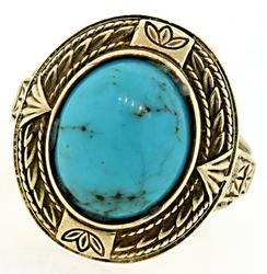 Vintage Style Ring with Turquoise