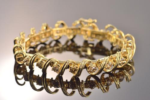 ctw chocolate diamond tennis bracelet. Black Bedroom Furniture Sets. Home Design Ideas