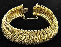 Super Heavy Ladies 18KT Gold Bracelet Over 3 Oz's