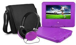 Portable DVD Player Set with Bag and Headset