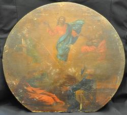 Rare XIX Century Russian Orthodox Jesus Christ Transformation Icon