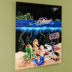 Vibrant Hand Embellished Giclee on Canvas-Certified