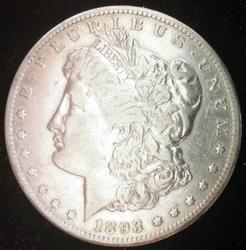 1893-CC Morgan Silver Dollar Circulated