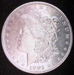1901 Morgan Silver Dollar Circulated