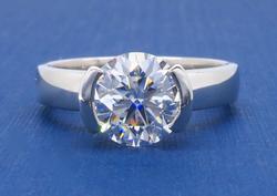 GIA Certified 1.52CT Diamond Ring