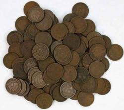 90 Assorted Indian Cents
