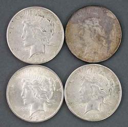 4 US  Peace Dollars