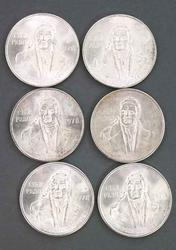 6 BU 1978 Silver 50 Pesos Mexico