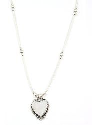Sterling Silver Heart Necklace, New