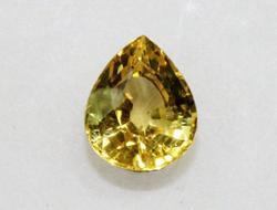 Vivid Natural Yellow Sapphire Pear - 1.18 cts.