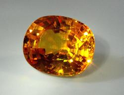 Stunning Natural Golden Sapphire - over 9 carats