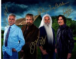 Oak Ridge Boys Autographed X4 In Gold Signed 11x14 Grou