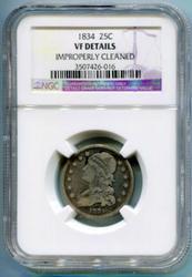 1834 Capped Bust Quarter 25C NGC VF Details