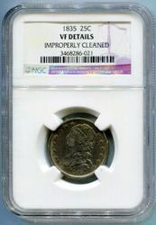 1835 Capped Bust Quarter 25C NGC VF Details