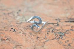 Spiral Bypass Ring Sterling Silver