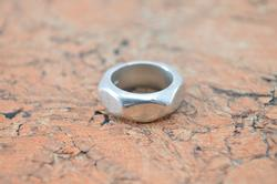 Faceted Band Ring Sterling Silver