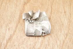 Abstract Form Pin / Brooch Sterling Silver
