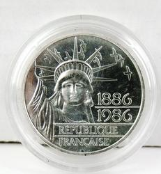 1986 French 100F Silver Coin