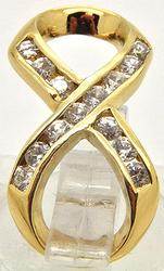 Slide Style Pendant featuring diamonds in a 14kt Gold