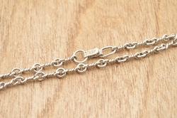 Twisted Link Chain Necklace Sterling Silver