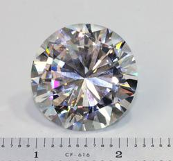 BLING! Enormous 34mm 220+CT Cubic Zirconia