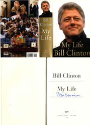 Bill Clinton Autographed Signed My Life Book Title Page