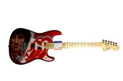 Ron Wood Rolling Stones Autographed Airbrushed Guitar A