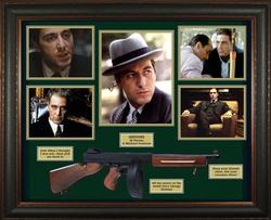 Al Pacino Autographed Godfather Photo w Gun Custom Shad